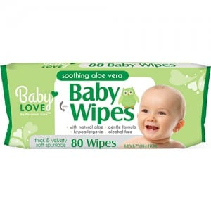 BABY LOVE BABY WIPES WITH ALOE 80CT Image