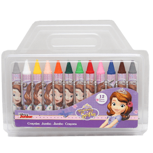 Sofia 12 PCs Jumbo Crayons Image