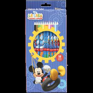 Mickey 12 PCs Colour Pencils Image