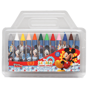 Mickey 12 PCs Jumbo Crayons Image