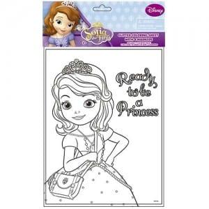 Sofia Glitter Colouring Sheet Image