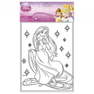 Princess Glitter Colouring Sheet Image