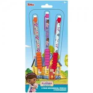 Doc McStuffins 3 Pack Mechanical Pencils Image