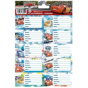 Cars Notebook Stickers Image