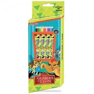 Lion Guard 12 PCs Colour Pencils Image