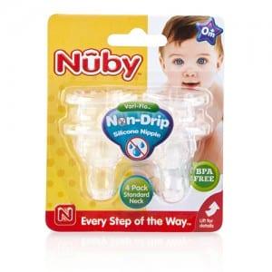 4PK NO SPILL NUBY NIPPLE Image