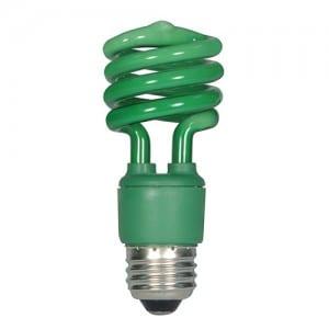 S7272 13W E26 BASE GREEN MINI SPIRAL Image