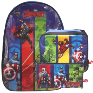 Avengers Combo- Backpack, Lunch Bag & Pencil Case Image