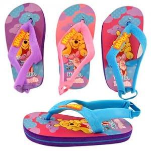 Winnie the Pooh Girls Flip Flops Image