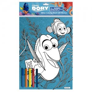 Finding Dory Glitter Colouring Sheet Image