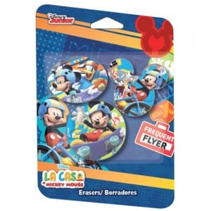 Mickey Mouse 3 PCs Erasers Image